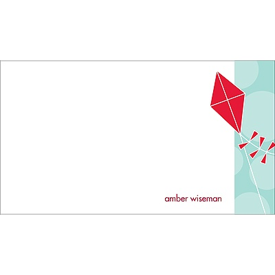 Time to Soar -- Red Personalized Note Card