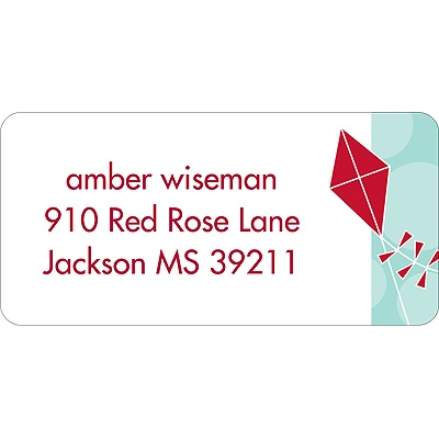 Time to Soar Red Address Label
