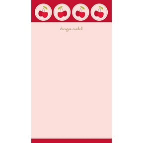 Cheery Cherries -- Personalized Note Card