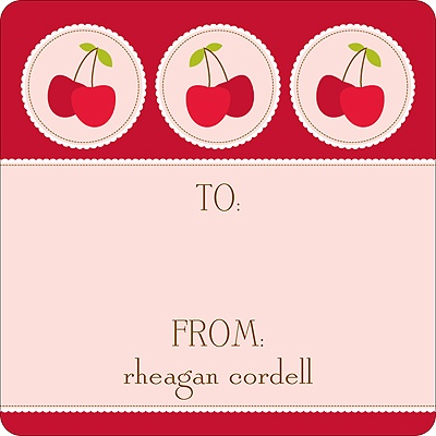 Cheery Cherries -- Kids Birthday Favor Stickers