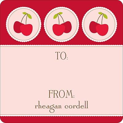 Cheery Cherries Kids Birthday Favor Stickers