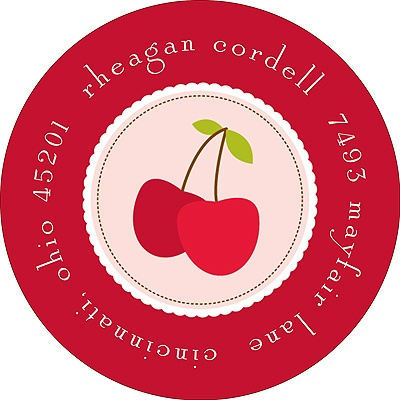 Cheery Cherries Address Label