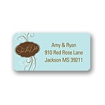 Love Story -- Blue Address Label