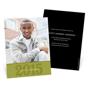 Simple Portrait -- Graduation Announcements