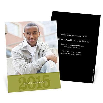 Simple Portrait Graduation Announcements
