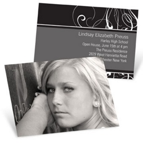 Flair -- Mini Graduation Announcements