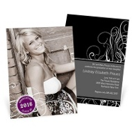 Stylish Design - Photo Graduation Invitations
