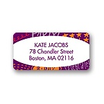 Doodles of Fun -- Purple Address Label