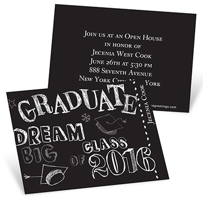 Doodles Mini Graduation Announcements