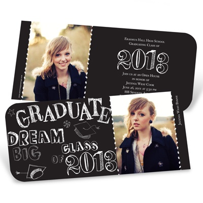 Doodles -- Photo Graduation Invitation
