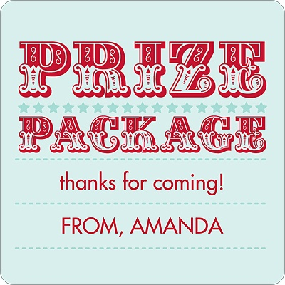 Top Prize Kids Birthday Favor Stickers