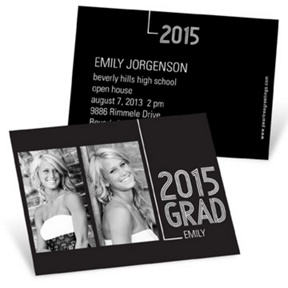 Striped Success -- Mini Graduation Announcements