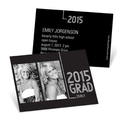 Striped Success Mini Graduation Announcements
