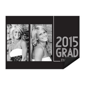 Striped Success Photo Magnet -- Mini Graduation Announcements
