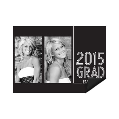 Striped Success -- Graduation Photo Magnets