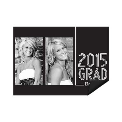 Striped Success Photo Magnet Mini Graduation Announcements
