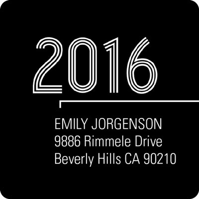 Striped Success Graduation Address Labels
