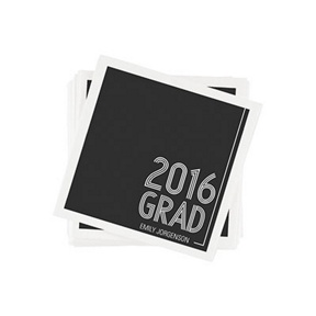 Striped Success -- Graduation Napkins