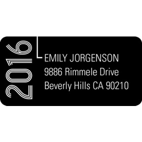 Striped Success -- Graduation Address Labels