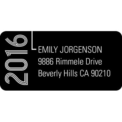 Striped Success Graduation Address Labels