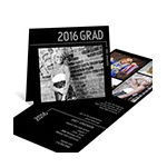 Striped Success -- Photo Graduation Invitation