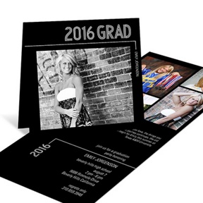 Striped Success Folded -- Graduation Announcements