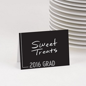Striped Success Table Cards -- Graduation Party Decorations
