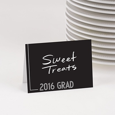 Striped Success Table Cards Graduation Party Decorations