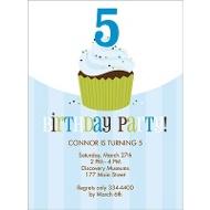 Sweet Sprinkles Blue Birthday Invitation