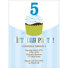 Sweet Sprinkles -- Blue Birthday Invitation