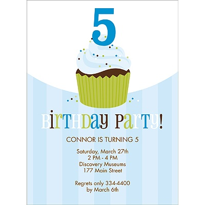 Sweet Sprinkles Blue Birthday Invitation