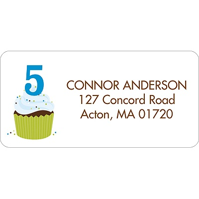 Sweet Sprinkles Blue Address Label
