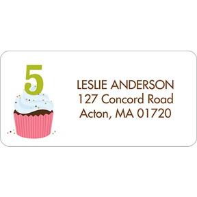 Sweet Sprinkles -- Pink Address Label