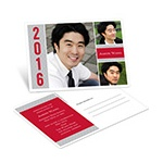 Three Photos - Graduation Postcard Invitations