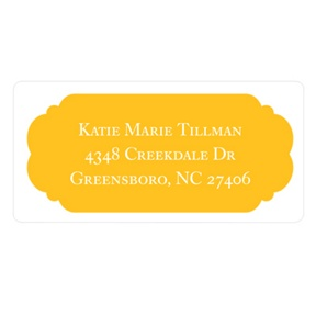 Perfect Presentation -- Graduation Address Labels