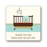 Lullaby Baby in Aqua -- Baby Shower Favor Stickers