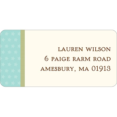 Lullaby Baby In Aqua Baby Address Labels