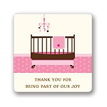 Lullaby Baby in Pink -- Baby Shower Favor Stickers