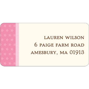 Lullaby Baby In Pink -- Baby Address Labels