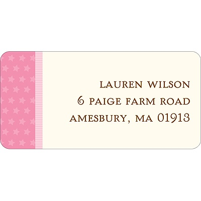 Lullaby Baby -- Pink Address Label