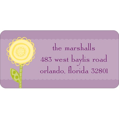 One Bright Flower -- Address Labels