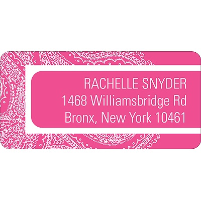 Paisley Combo -- Address Label