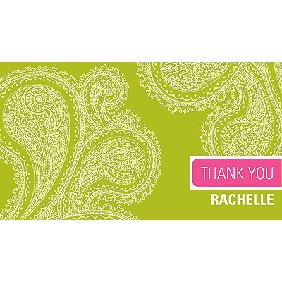 Paisley Combo -- Thank You Card