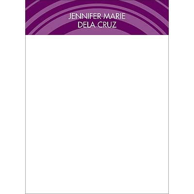 On Target Purple Personalized Note Card