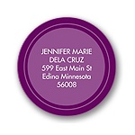 On Target -- Purple Address Label