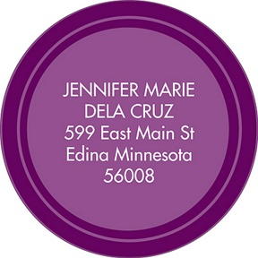 On Target Purple -- Graduation Address Labels