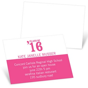 Class Act -- Mini Graduation Announcements