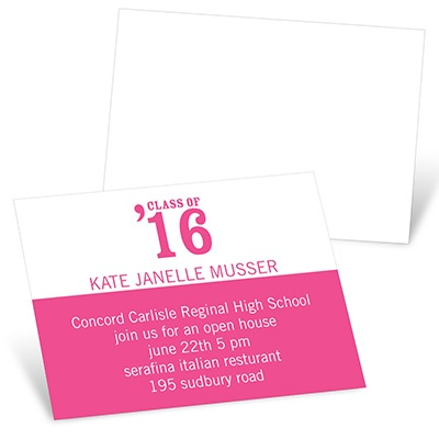 Class Act Mini Graduation Announcements