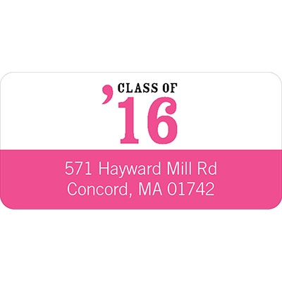 Class Act Graduation Address Labels