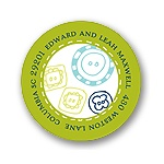 Cute as a Button -- Green Address Label